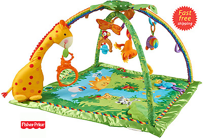 Fisher-Price - Rainforest Melodies Lights Gym Baby Activity Toy