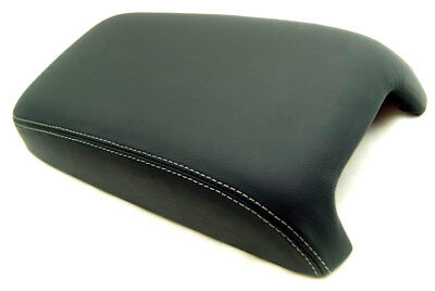 Armrest Console Lid Leather Synthetic Cover for Dodge Charger 11-19 Gray Stitch