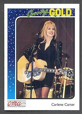 Charlene Carter, Country Music Star on a 1992 Country Gold Music Card #42