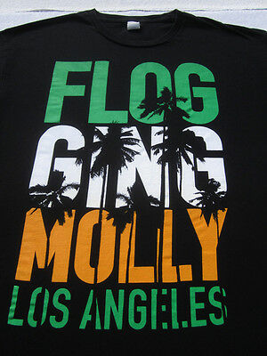 FLOGGING MOLLY los angeles LARGE T-SHIRT punk