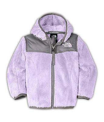 NEW The North Face Infant Baby Girl Oso Bloom Purple Fleece Hoodie Jacket 12-18M