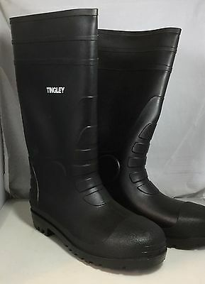 Tingley 31151 Economy Kneed Boot for Agriculture 15-Inch Black Size 14