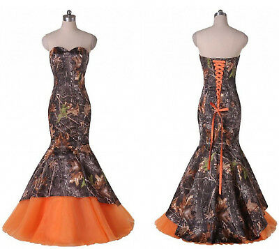 87308ea850f3f New Mermaid Camo Wedding Dresses Formal Camouflage Lace Up Bridal Gowns  Custom