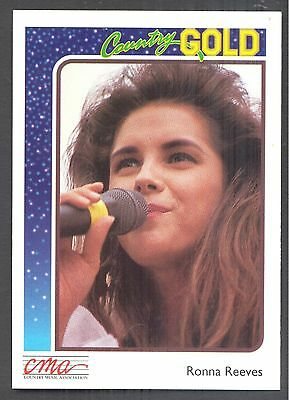 Ronna Reeves, Country Music Star on a 1992 Country Gold Card #46
