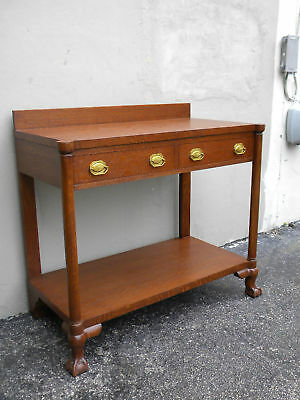 Early 1900's Ball & Claw Foot Oak Server / Buffet / Console 872
