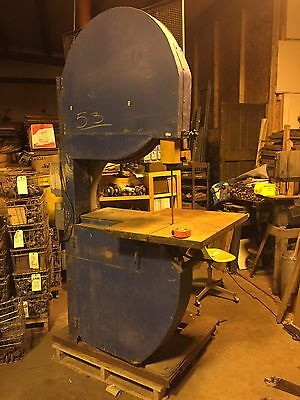 """Industrial 32"""" Woodworking Bandsaw On Custom Skid W/ Dust Collector & Power"""