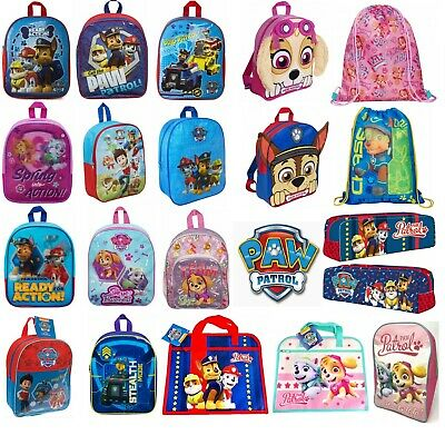 Childrens Kids Boys Girls PAW PATROL Backpack School Bag Rucksack Character NEW
