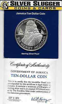 1974 Jamaica Sir Henry Morgan Sterling Proof 1.35 oz of silver
