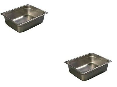Set of 2 Half Size Food Pans Gastronorm For Chafing Dish Dishes Pan