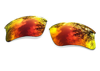 Fit&See Polarized Red Replacement Lenses for Oakley Flak Jacket XLJ