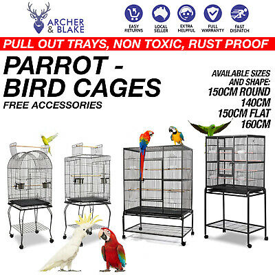 Bird Cage Parrot Aviary Pet Stand Alone Budgie Castor Large Galah Budgie Aviary