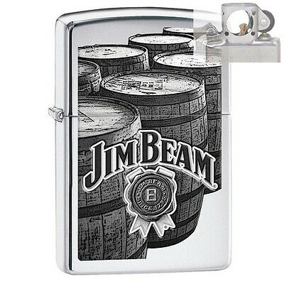Zippo 29324 Jim Beam Barrels High Polish Lighter with PIPE INSERT PL