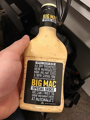 McDonald's Big Mac Special Sauce Limited No. 7,624/10,000 *SEALED/NEVER OPENED*