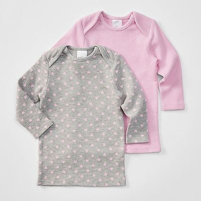 NEW Baby 2 Pack Long Sleeve Waffle Thermal Top