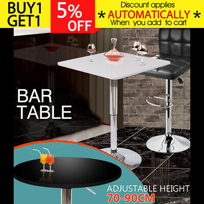 Outdoor Indoor Adjustable Bar Table Cafe Pub Dining Coffee Kitchen Wine Garden