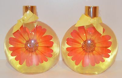 Lot Of 2 Bath & Body Works Love & Sunshine Bubble Bath Wash Shower Gel Round