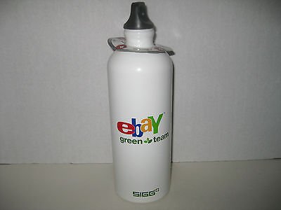 EBAY GREEN TEAM STAINLESS STEEL Water Bottle Drink Cycle Travel NWT Free Ship
