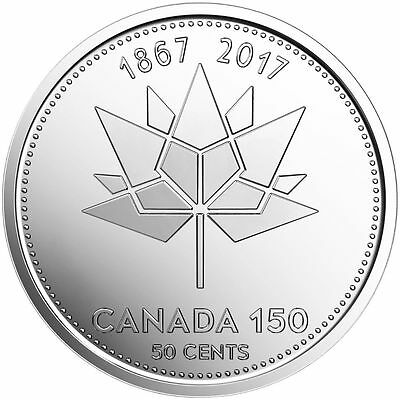 2017 CANADA 50 CENTS 1867-2017 150TH ANNIVERSARY OF CANADA unc from rmc roll
