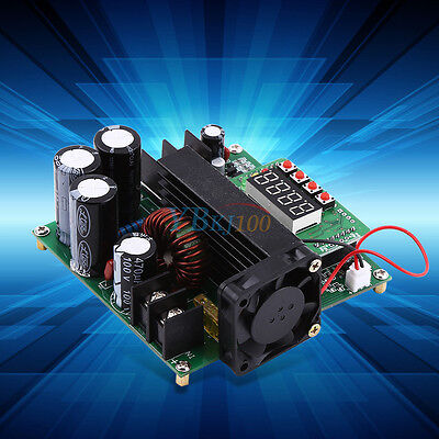 900W Digital DC-DC Output 10-120V 15A Step-up Power Module Boost Converter New