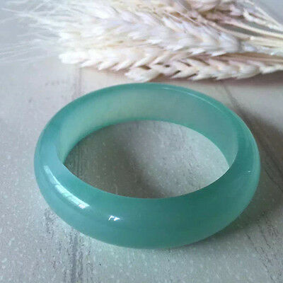 58-62mm beautiful Natural Chinese white jade hand-carved bracelet