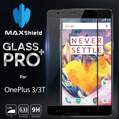 GENUINE MAXSHIELD TEMPERED GLASS SCREEN PROTECTOR FOR OnePlus Three 3 / 3T