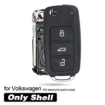Replacement 3 Button Remote Key shell case for VW Polo GOLF MK6 Uncut Blade