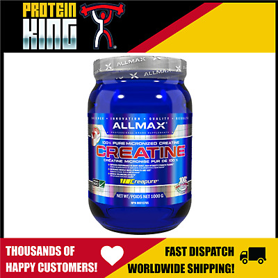 Allmax 1Kg Creatine Micronised 100% Pure German Grade Powder Creapure Beast Bsc