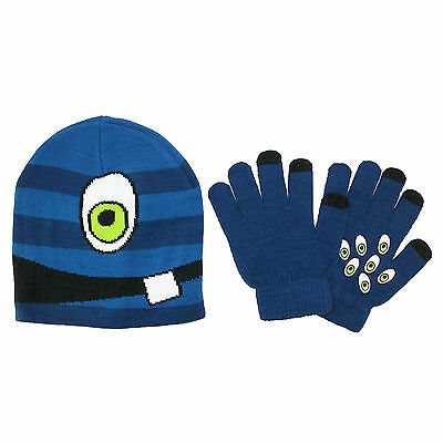 New CTM Kids' 4-7 Face Hat with Gripper Gloves Set