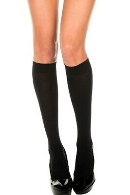 Knee-His Black Stockings Opaque Knee High Womens Adult Socks