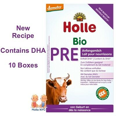 Holle Pre Organic Baby Formula, 0-6 months, 400g 11/2019 FREE SHIPPING 10 BOXES