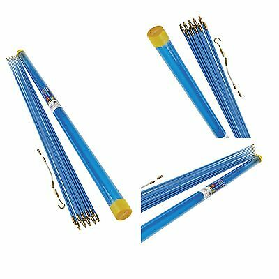 10 METRE CABLE PULLER  INSTALLATION WALL ACCESS KIT 10 x 1m PUSH PULL DRAW RODS