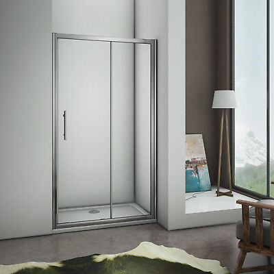 1200x1850mm Sliding Shower Enclosure Walk In Safety Glass Door Screen Cubicle