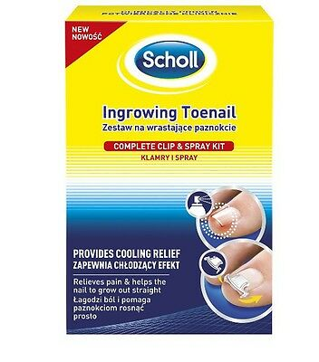 Scholl Ingrowing Toenail Complete Clip & Spray Kit NEW PRODUCTS !!