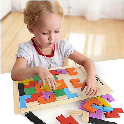 Hot New Preschool Educational Colorful Tangram Wooden Puzzle Game Kid Toy