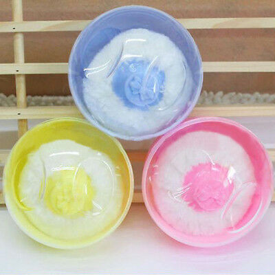 New Soft Villus Sponge Powder Puff Box Case Container Baby Body Makeup Tool