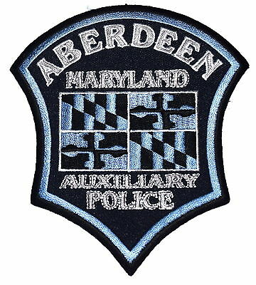 ABERDEEN MARYLAND MD Police Sheriff Patch COAT ARMS ~