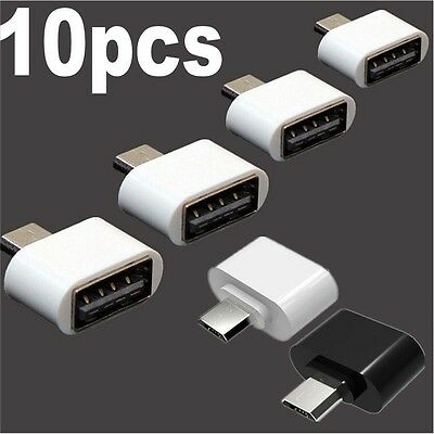 Mini Micro USB Male to USB 2.0 Female Adapter OTG Converter For Android Phone