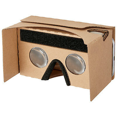 Lot of 5x Insignia Virtual Reality Cardboard Glasses for Smart phones Google