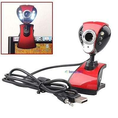 USB 50 Megapixel Digital LED HD Webcam with Microphone for PC Laptop Skype FA