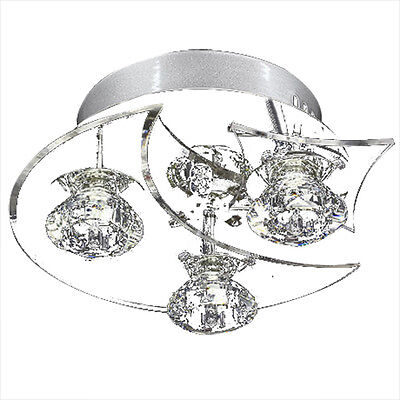 Contemporary LED Crystal Ceiling Light Pendant Lamp Lighting Chandelier P4T