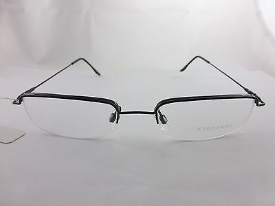 Stefanel Beautiful Black Metal eyeglasses frame, 60351 Vintage , Italy