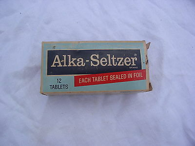 Vintage Advertising Alka Seltzer In  Foil Sealed Tablets  In Box