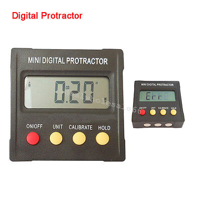 Digital Angle Finder Protractor Inclinometer Clinometer Spirit Level 360°