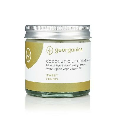 Georganics Natural Remineralising Organic Coconut Oil Toothpaste, Fennel