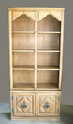 Vintage Mid Century Modern Wood BOOKCASE by William Furniture Corp Boston Stack