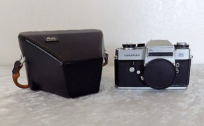 Leicaflex SL 35mm film camera body leatherette case front cap TESTED WORKS Leica