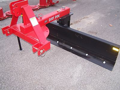 New Dirt Dog Mfg. Super HD 7 ft. Rear Blade-5007-01-Red  *Can Ship Cheap & Fast*