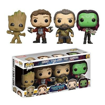 """Guardians Of The Galaxy Vol. 2  4 Pack 3.75"""" Pop Vinyl Funko Star-Lord Groot Ego"""
