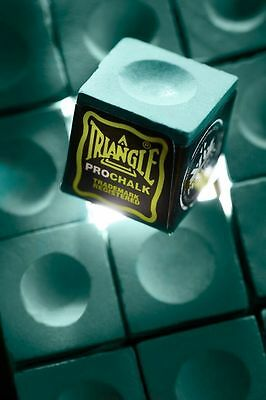NEW! Triangle Pro Chalk Snooker/Pool (3 cubes)