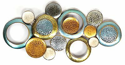 Abstract Metal Wall Art Circles Hanging Sculpture Home Garden Décor BIG 94 cm